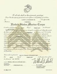 honorable discharge certificate usmc promotion warrant template 100 honorable discharge certificate