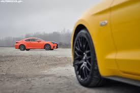 lexus rc yellow ford mustang gt vs lexus rc f porównanie autowizja pl