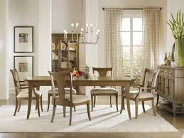 hooker dining room furniture laminated block board area floor rectangle varnished teak wood