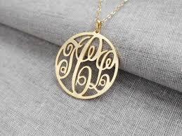 monogrammed pendant personalized monogram necklace monogrammed pendant nanvo