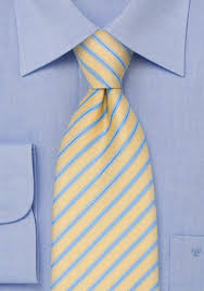 light yellow mens dress shirt yellow mens tie with light blue stripes bows n ties com