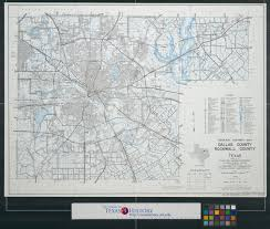 Map Dallas General Highway Map Dallas County Rockwall County Texas The