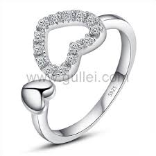 girls rings beautiful images Beautiful diamond heart cheap free size ring for girls jpg