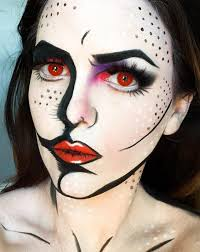 Pop Art Halloween Costume Pop Art Makeup Ideas Good Cartoons