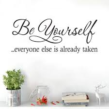 quote wall stickers wall sticker quote yourself