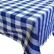 linen tablecloth country style gingham pattern