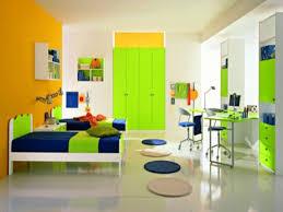 bedroom remodel ideas green wall color combine with orange
