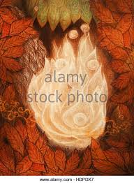 flames watercolor painting on stock photos flames