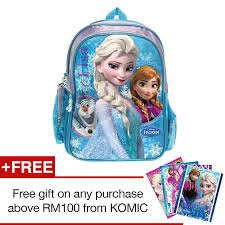 disney princess frozen bag blue colour