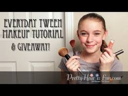 everyday tween makeup tutorial pretty hair is fun