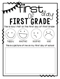 first day of first grade printable beg of year