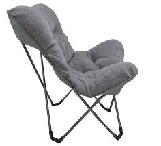 Lounge Camping Chair Portable Folding Outdoor Camping Dorm Plush Lounge Chair Picnic