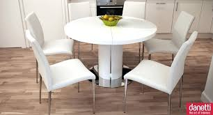 dining table round white gloss dining table chairs 5 pc round