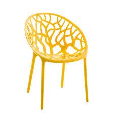 Chaise D Ext Rieur Chaise D Intérieur Ou D Extérieur En Plastique Jaune Empilable