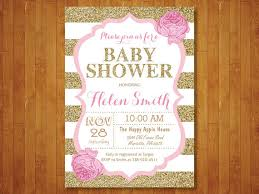 pink and gold baby shower invitations pink and gold baby shower invitation pink black gold glitter