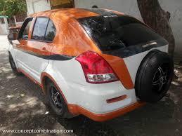 modified sports cars modified maruti dzire by concept combination called