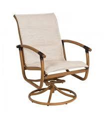 Swivel Patio Dining Chairs Woodard Glade Isle Padded Sling Rocker Swivel Patio Dining Chair