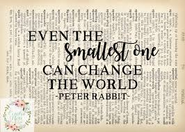 beatrix potter rabbit nursery even the smallest one can change the world beatrix potter