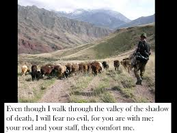 Your Rod And Your Staff Comfort Me Psalm 23 The Lord Is My Shepherd I Shall Not Be In Want Ppt