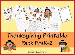 thanksgiving printable learning pack prek 2