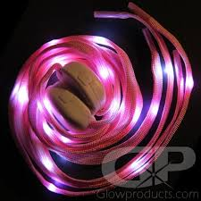 led shoelaces pink glowing led shoelaces on sale glowproducts