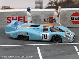 old porsche race car the cars gulf racing old irish racing model collection