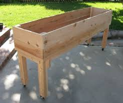 Patio Planter Box Plans Fresh Nice Portable Elevated Planter
