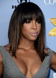 medium hairstyles with bangs for women who are overweight shoulder length hairstyles with bangs black women sew in check