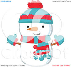 cute snowmen clipart clipart collection pink scarf and hat