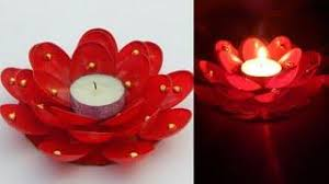 Ideas For Diwali Decoration At Home How To Make Diya Holder With Cd Diwali Decoration Ideas At Home