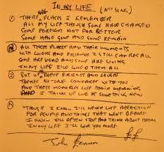 biography of john lennon in the beatles john lennon s handwritten lyrics for in my life the beatles bible