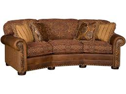 Leather Conversation Sofa King Hickory Living Room Ricardo Leather Fabric Conversation Sofa
