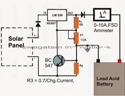 solar panel 12v battery charger circuit diagram circuit diagram