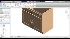 revit family creation kitchen base cabinet modified to double