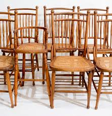 Oak Dining Chairs Antique Heywood Wakefield Oak Dining Chairs Ebth