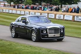roll royce rois rolls royce bespoke sweptail takes to goodwood hillclimb autocar