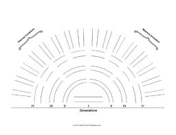 generation family tree fan chart template