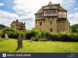 stokesay castle near ludlow shropshire uk stock photo royalty