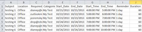 csv format outlook import import meetings from a csv or xlsx file