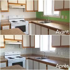 cuisine avant apr鑚 erstaunlich mosaique adhesive stickers home design architecture avec