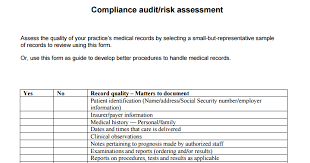 medical record compliance audit risk assessment mgma