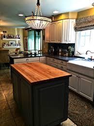 oak butcher block countertop modern kitchen