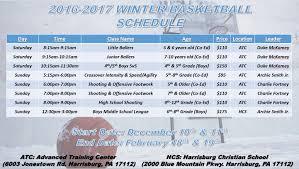 2016 2017 winter program