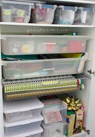 wrapping paper station 67 best gift wrap station images on organization ideas