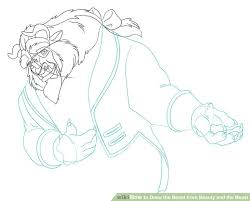 how to draw the beast from beauty and the beast 9 steps