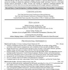 45 Best Teacher Resumes Images by Resume For Physical Education Teacher Templates Teachers Free