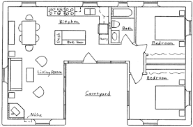 housing floor plans free u shaped house floor plans gnscl