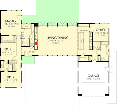 Jack And Jill Floor Plans 3 Bed Modern House Plan With Open Concept Layout 69619am