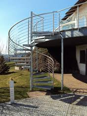 balkon mit treppe treppen möcke stahlbau schlosserei