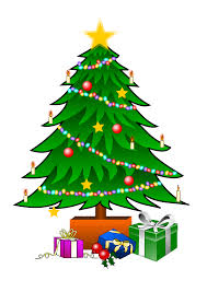 this nice christmas tree with presents clip art can be used for
